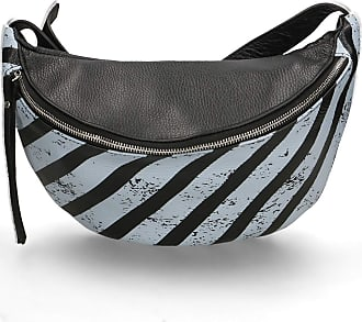 Chicca Borse Pouch Bag in genuine leather made in Italy - 19x30x12 Cm