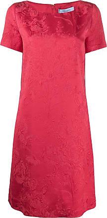 Blumarine Vestido mangas curtas - Vermelho