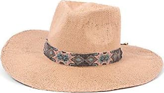 ále by Alessandra Womens Dylan Woven Toyo Sunhat with Beaded Trim, Caramel, One Size