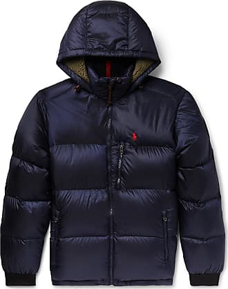 Polo Ralph Lauren Faux Shearling-trimmed Quilted Shell Down Jacket - Navy