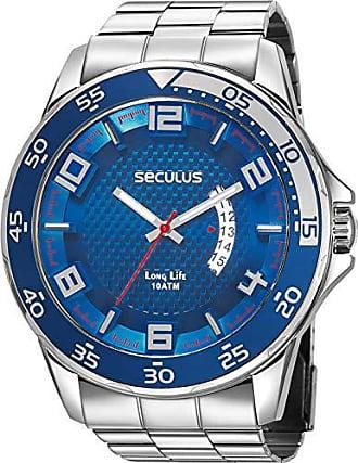 Seculus Relógio Seculus Masculino Ref: 28961g0svna1 Esportivo Prateado