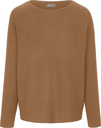 include Round neck jumper in Pure cashmere in premium qual include brown