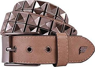 f67847c24a Lowlife Of London Gürtel Concave Studded Beige (Medium, Braun)
