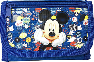 Disney Mickey Mouse Authentic Licensed Trifold Wallet (Blue)