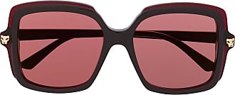 Cartier Óculos de sol oversized Panthère - Marrom