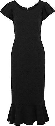 Opening Ceremony Opening Ceremony Woman Fluted Matelassé Midi Dress Black Size XS