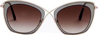 Tom Ford Eyewear Óculos de Sol Translúcido Cinza - Mulher - Único US