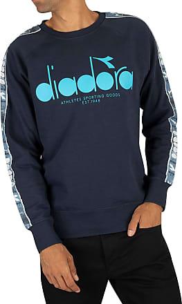 Diadora Mens Graphic Offside Sweatshirt, Blue, M