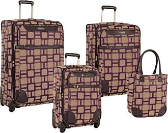 Nine West Ninewest 4 Piece Spinner Luggage Set, Purple