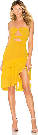 Majorelle London Emelia Midi Dress in Yellow