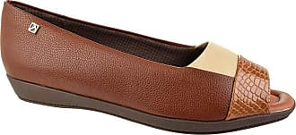 Piccadilly Peep Toe Piccadilly Wood Marrom Feminino