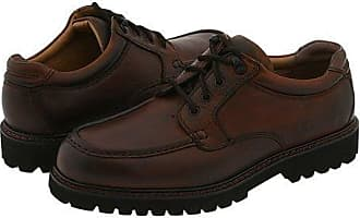 Dockers Glacier (Dark Tan Leather) Mens Lace Up Moc Toe Shoes