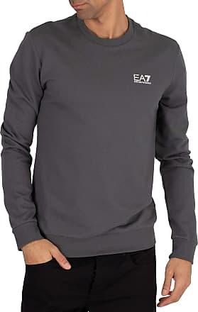 Emporio Armani Mens Chest Logo Sweatshirt, Grey, XL