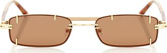 Y / Project x Linda Farrow rectangular sunglasses