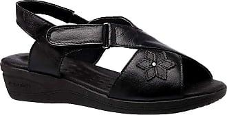 Doctor Shoes Antistaffa Sandália Feminina Esporão em Couro Preto 7998 Doctor Shoes-Preto-38