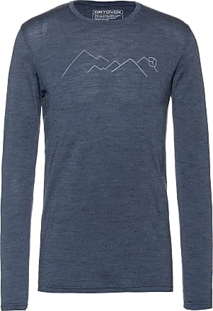 Ortovox 185 Mountain Langarmshirt Herren in night blue blend, Größe XXL