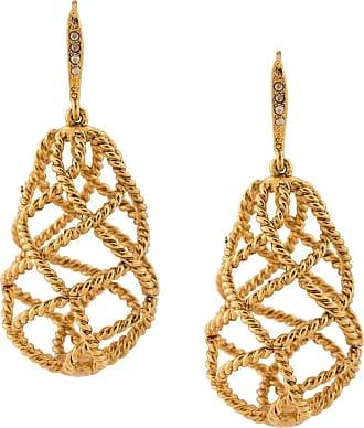 Oscar De La Renta Woven crystal-embellished earrings - GOLD