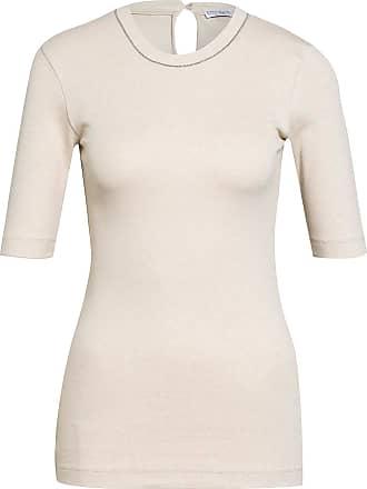 Brunello Cucinelli Strickshirt mit Perlenbesatz - CREME