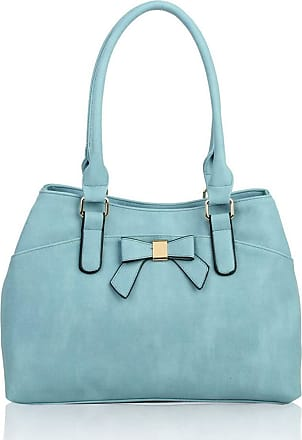 LeahWard Womens Bow Shoulder Bags Large School Handbags R08 (Quay Blue)