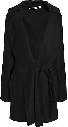 McQ by Alexander McQueen Mcq Alexander Mcqueen Woman Oversized Belted Wool-blend Felt Jacket Black Size 38