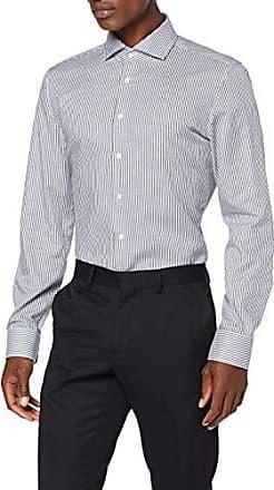 Seidensticker Slim Langarm mit Button-Down Kragen Soft Uni Smart Business Camicia Formale Uomo