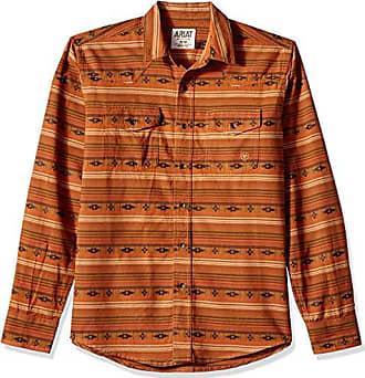 Wagnor Multi SML Ariat Mens Retro Fit Long Sleeve Snap Shirt