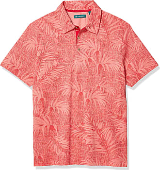 Cubavera Mens Big /& Tall Knit Spiced Coral Polo Shirt