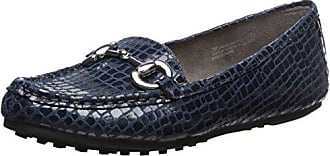 Aerosoles Womens Drive Through Slip-On Loafer, Blue Crocodile, 6 W US