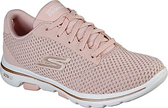 Skechers Go Walk 5 - Debut - Pink/Gold - Womens Trainers (Numeric_5)