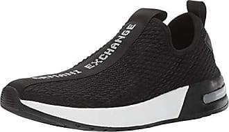 A|X Armani Exchange Mens Mesh Low Rise Sneaker, Black, 8 M US