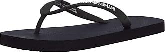 Emporio Armani Mens Logo Lover Flip Flop, Black, 6.5 UK