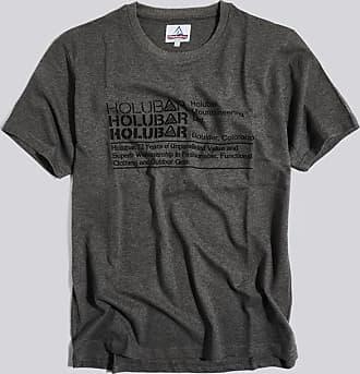 HOLUBAR t-shirt triple logo jj23 grigio