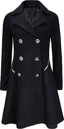 NPRADLA Womens Winter Warm Ladies Lapel Stylish Long Parka Coat Trench Outwear Jacket Black
