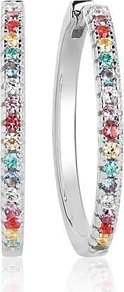 Sif Jakobs Jewellery Earring Ellera X-Grande with Multicoloured zirconia