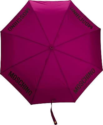 Moschino logo printed umbrella - PURPLE