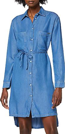 Pepe Jeans London Womens Dress, Blue (Denim 000), Medium