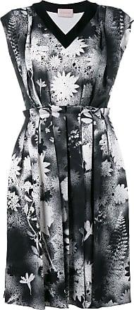 Christopher Kane Vestido com acabamento franzido - Preto