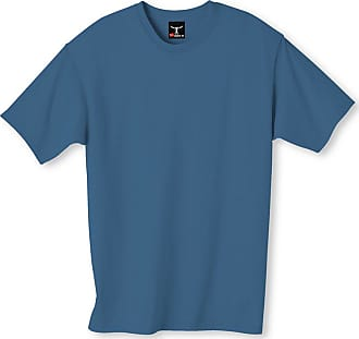 Hanes Mens Short Sleeve Beefy T-Shirt, L,Denim Blue