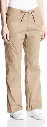 Dickies womens86206Signature Mid Rise Drawstring Scrubs Cargo Pant Medical Scrubs Pants - Beige - X-S Petite
