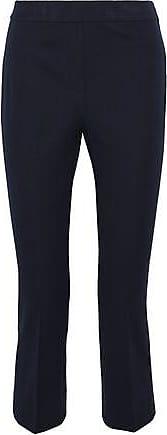 Elie Tahari Elie Tahari Woman Kate Cropped Cotton-blend Twill Slim-leg Pants Navy Size 6