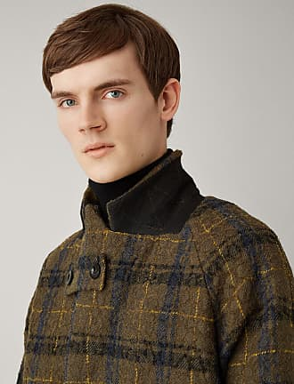 Joseph Albert Textured Macro Check Coat