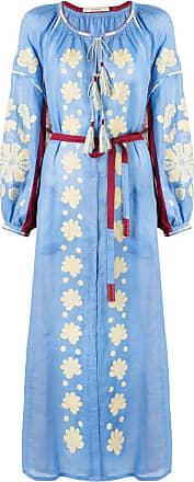 Vita Kin Vestido kaftan com cinto - Azul
