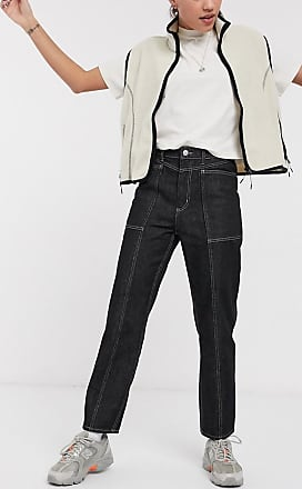 Weekday seam front pocket jeans in black