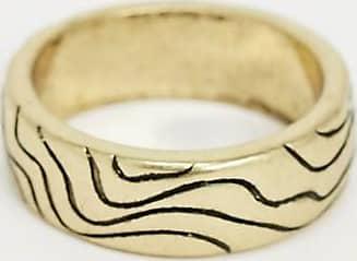 Icon Brand Anello a fascia oro con onde