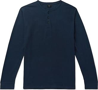 Onia Slub Linen-blend Henley T-shirt - Navy