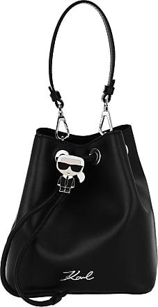 Karl Lagerfeld Ikonik Bucket Bag Black Beuteltasche schwarz