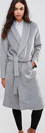 Unique21 Unique 21 Robe Coat With A Waist Tie Belt-Grey