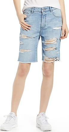 97ea816783 DL1961 Womens Dl1961 Jerry Vintage Ripped High Waist Bermuda Shorts, Size  27 - Blue
