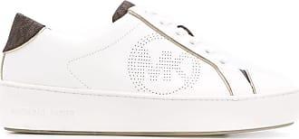 Michael Michael Kors Tênis plataforma 40mm com logo perfurado - Branco