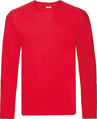 Fruit Of The Loom Mens Original Long Sleeve T-Shirt (3XL) (Red)